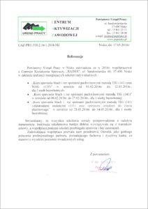 PUP Nisko - referencje 05-2016